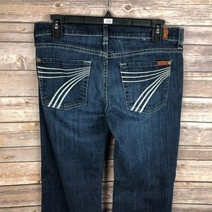 7 For All Mankind Dojo Flare Wide Leg Jeans 28